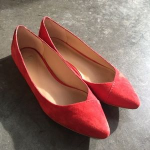Joe's Jeans Red Suede Flats
